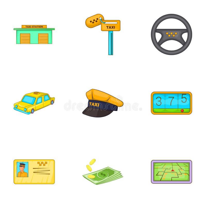 Download Ícones Ajustados, Estilo Da Viagem Do Táxi Dos Desenhos Animados Ilustração do Vetor - Ilustração de gráfico, ícone: 80101739
