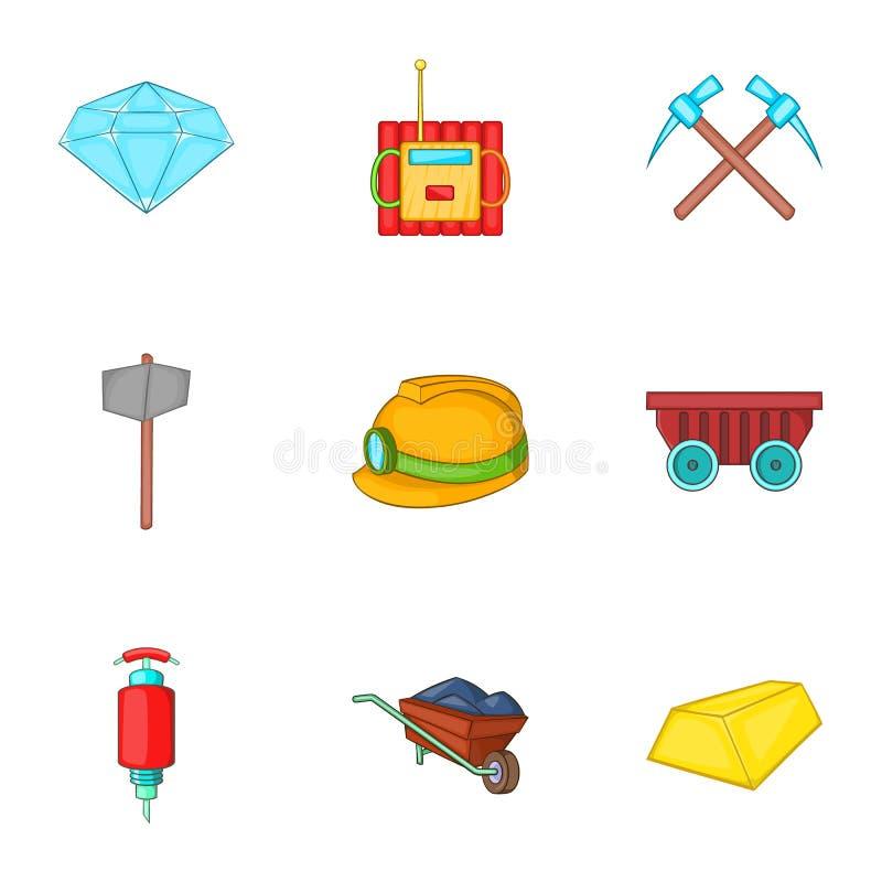 Download Ícones Ajustados, Estilo Das Atividades Da Mineração Dos Desenhos Animados Ilustração do Vetor - Ilustração de sujeira, cartoon: 80101965