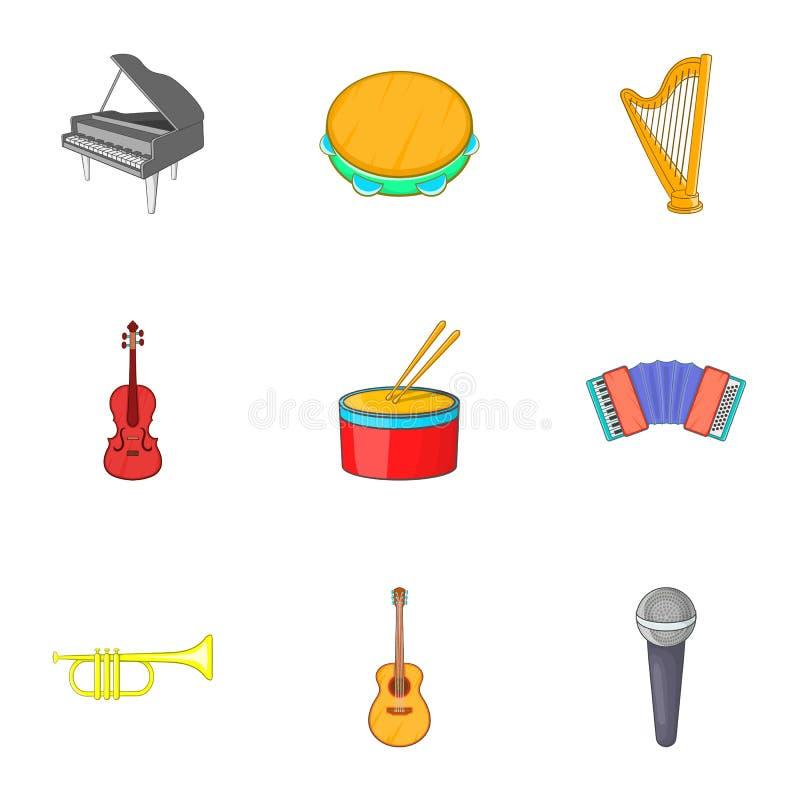 Download Ícones Ajustados, Estilo Das Ferramentas Do Musical Dos Desenhos Animados Ilustração do Vetor - Ilustração de media, arte: 80100878
