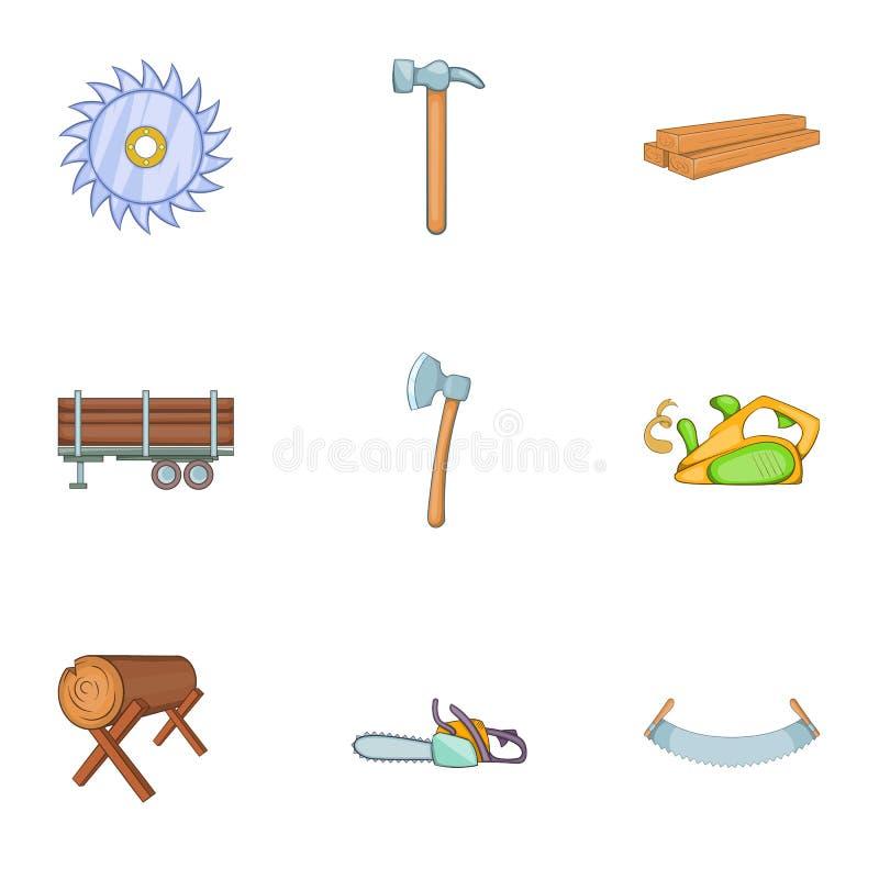 Download Ícones Ajustados, Estilo Das Madeiras Do Sawing Dos Desenhos Animados Ilustração do Vetor - Ilustração de machado, desenhado: 80102233