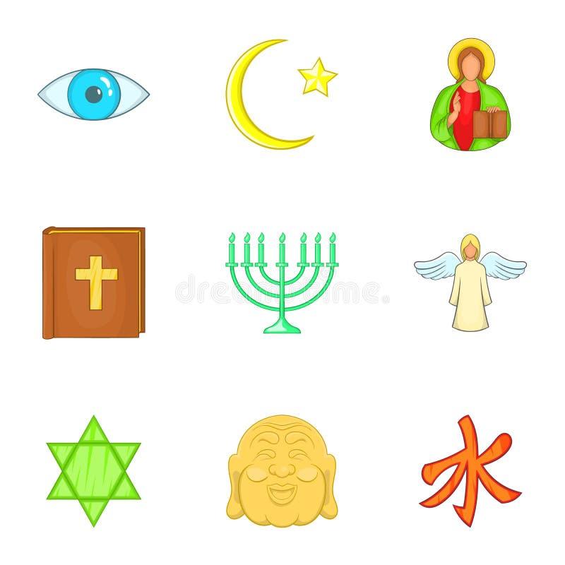 Download Ícones Ajustados, Estilo Das Opiniões Dos Desenhos Animados Ilustração do Vetor - Ilustração de catholic, relação: 80101743