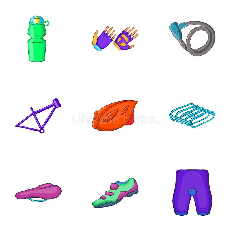 Download Ícones Ajustados, Estilo Das Peças Da Bicicleta Dos Desenhos Animados Ilustração do Vetor - Ilustração de calças, frasco: 80101380