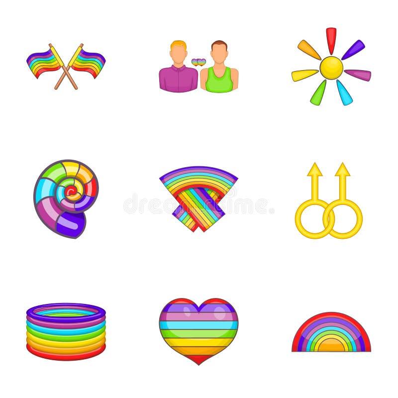 Download Ícones Ajustados, Estilo De LGBT Dos Desenhos Animados Ilustração do Vetor - Ilustração de gráfico, cartoon: 80101924