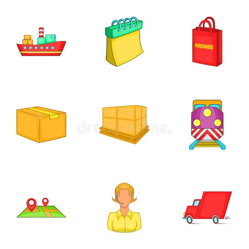 Download Ícones Ajustados, Estilo De Transferência Dos Desenhos Animados Ilustração do Vetor - Ilustração de indústria, imagem: 80101099