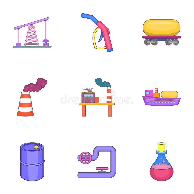Download Ícones Ajustados, Estilo Do óleo Dos Desenhos Animados Ilustração do Vetor - Ilustração de objeto, controle: 80100645