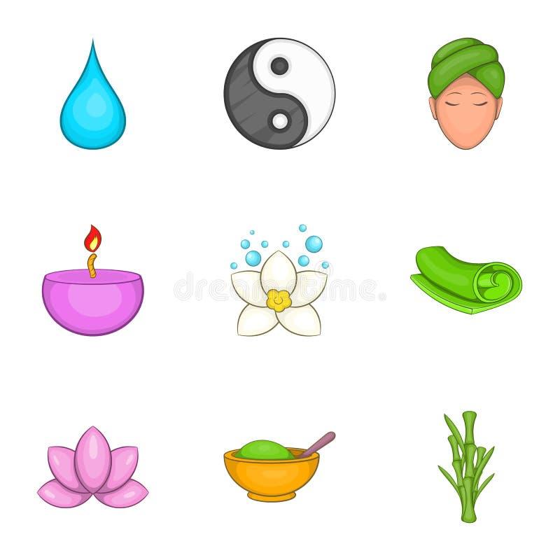 Download Ícones Ajustados, Estilo Do Abrandamento Dos Desenhos Animados Ilustração do Vetor - Ilustração de facial, lotus: 80101998