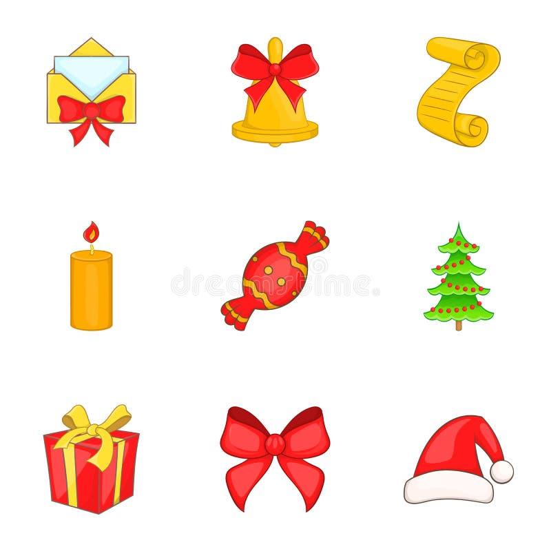 Download Ícones Ajustados, Estilo Do Ano Novo Dos Desenhos Animados Ilustração do Vetor - Ilustração de decoração, ilustração: 80101520