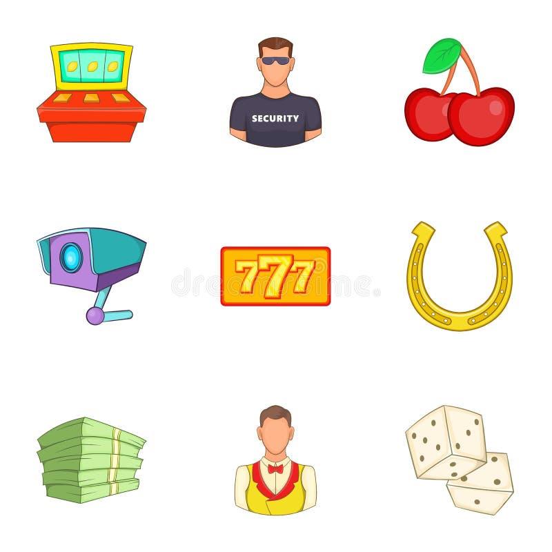 Download Ícones Ajustados, Estilo Do Casino Dos Desenhos Animados Ilustração do Vetor - Ilustração de coleção, jogo: 80100624