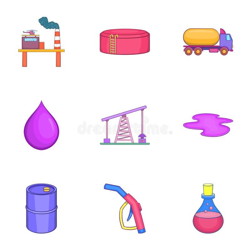 Download Ícones Ajustados, Estilo Do Combustível Dos Desenhos Animados Ilustração do Vetor - Ilustração de industrial, tambor: 80100652