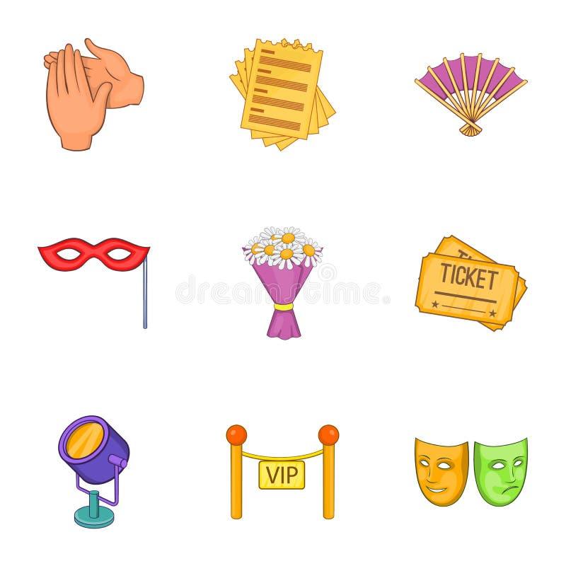 Download Ícones Ajustados, Estilo Do Desempenho Teatral Dos Desenhos Animados Ilustração do Vetor - Ilustração de ventilador, negócio: 80101387