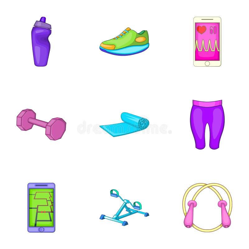 Download Ícones Ajustados, Estilo Do Emagrecimento Dos Desenhos Animados Ilustração do Vetor - Ilustração de ícone, lazer: 80101522