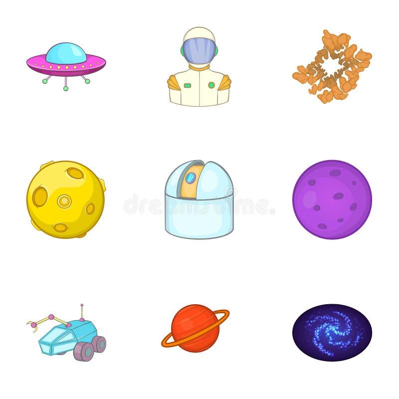Download Ícones Ajustados, Estilo Do Espaço Dos Desenhos Animados Ilustração do Vetor - Ilustração de cosmos, coleção: 80100543