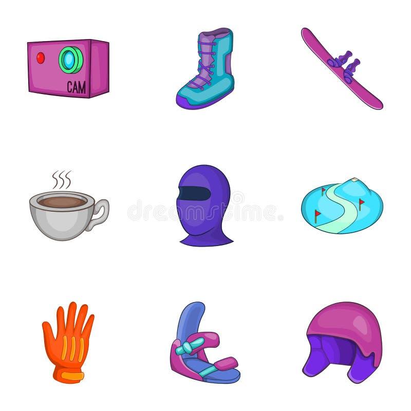 Download Ícones Ajustados, Estilo Do Esqui Do Inverno Dos Desenhos Animados Ilustração do Vetor - Ilustração de montagem, isolado: 80102366
