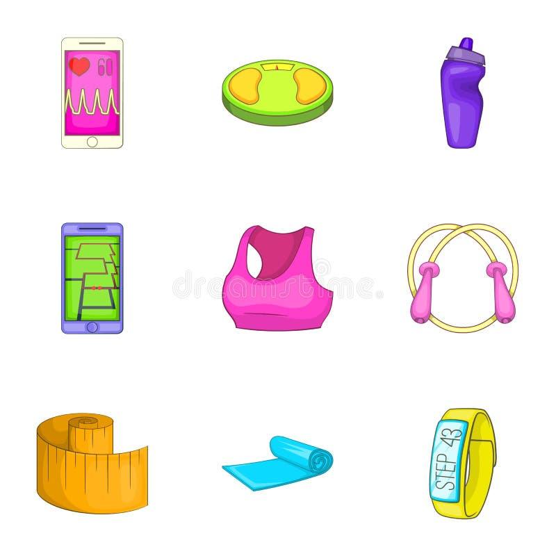 Download Ícones Ajustados, Estilo Do Estilo De Vida Dos Esportes Dos Desenhos Animados Ilustração do Vetor - Ilustração de telefone, ajuste: 80101311