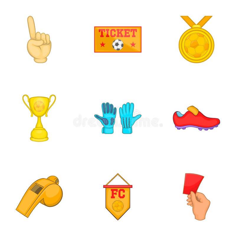 Download Ícones Ajustados, Estilo Do Futebol Dos Desenhos Animados Ilustração do Vetor - Ilustração de football, competição: 80100495
