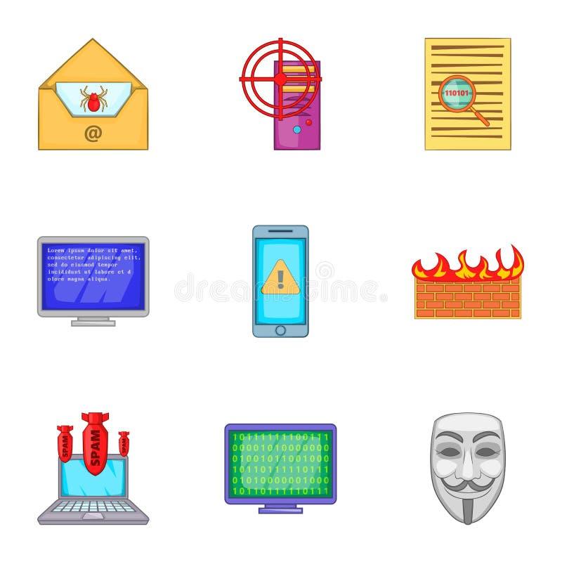 Download Ícones Ajustados, Estilo Do Hacker Dos Desenhos Animados Ilustração do Vetor - Ilustração de corte, objeto: 80101616