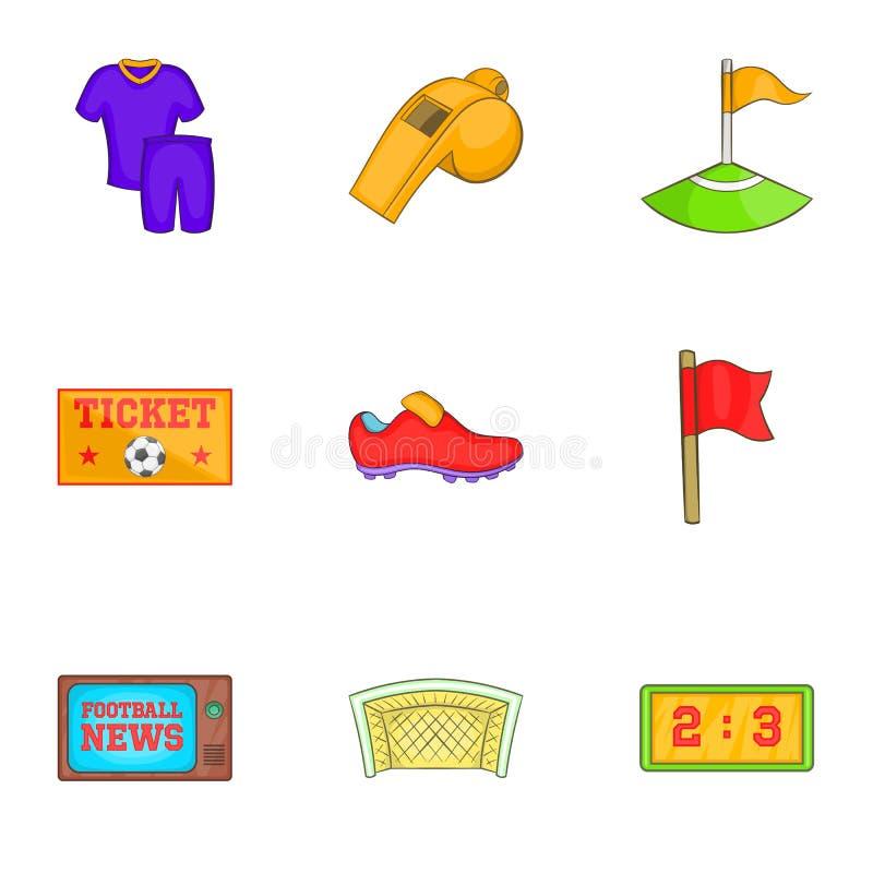 Download Ícones Ajustados, Estilo Do Jogo De Bola Dos Desenhos Animados Ilustração do Vetor - Ilustração de ataque, jogo: 80101255
