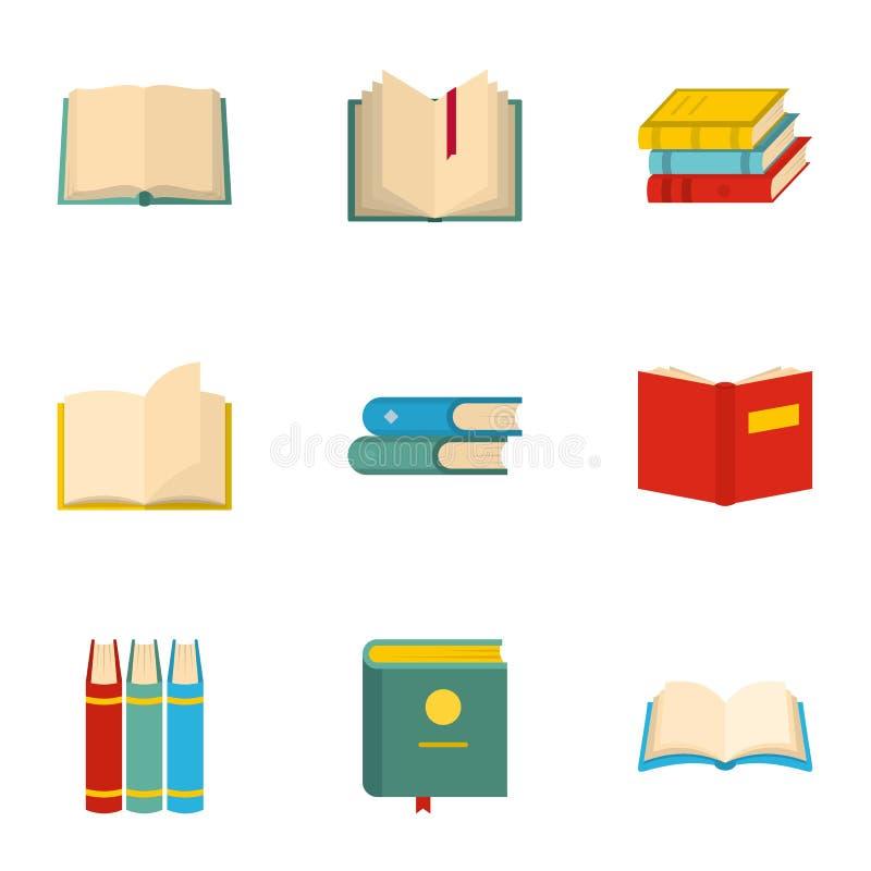Ícones ajustados, estilo do livro de texto da escola dos desenhos animados ilustração do vetor
