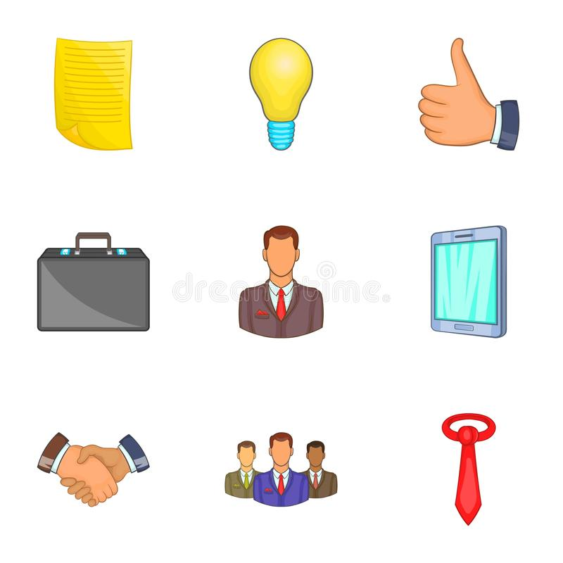 Download Ícones Ajustados, Estilo Do Mercado Dos Desenhos Animados Ilustração do Vetor - Ilustração de ocupação, imagem: 80100981