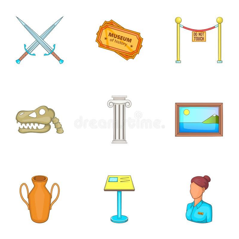 Download Ícones Ajustados, Estilo Do Museu Dos Desenhos Animados Ilustração do Vetor - Ilustração de dinosaur, arquitetura: 80101832