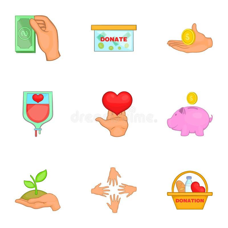 Download Ícones Ajustados, Estilo Do Patrocínio Dos Desenhos Animados Ilustração do Vetor - Ilustração de vida, coração: 80100895