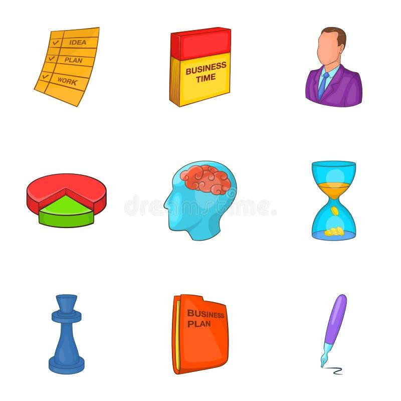 Download Ícones Ajustados, Estilo Do Plano De Negócios Dos Desenhos Animados Ilustração do Vetor - Ilustração de cartoon, chess: 80101323
