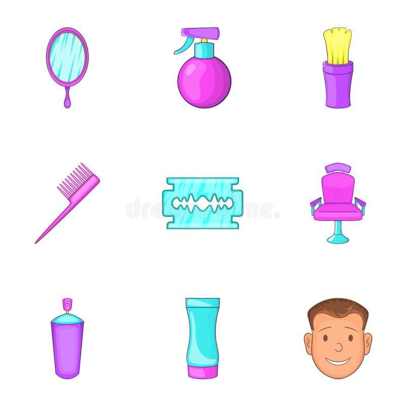 Download Ícones Ajustados, Estilo Do Salão De Beleza Dos Desenhos Animados Ilustração do Vetor - Ilustração de desenhado, espelho: 80100339