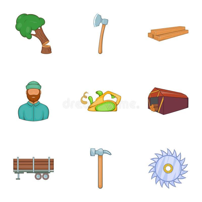 Download Ícones Ajustados, Estilo Do Sawing Dos Desenhos Animados Ilustração do Vetor - Ilustração de compra, desenhado: 80101274