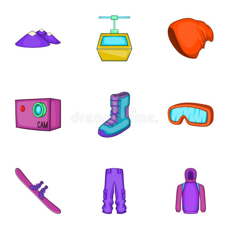 Download Ícones Ajustados, Estilo Do Snowboard Dos Desenhos Animados Ilustração do Vetor - Ilustração de cartoon, competição: 80101560