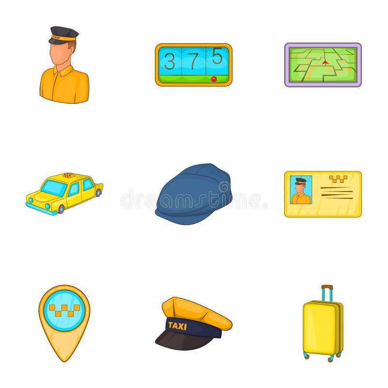 Download Ícones Ajustados, Estilo Do Táxi Dos Desenhos Animados Ilustração do Vetor - Ilustração de ícone, desenho: 80101243