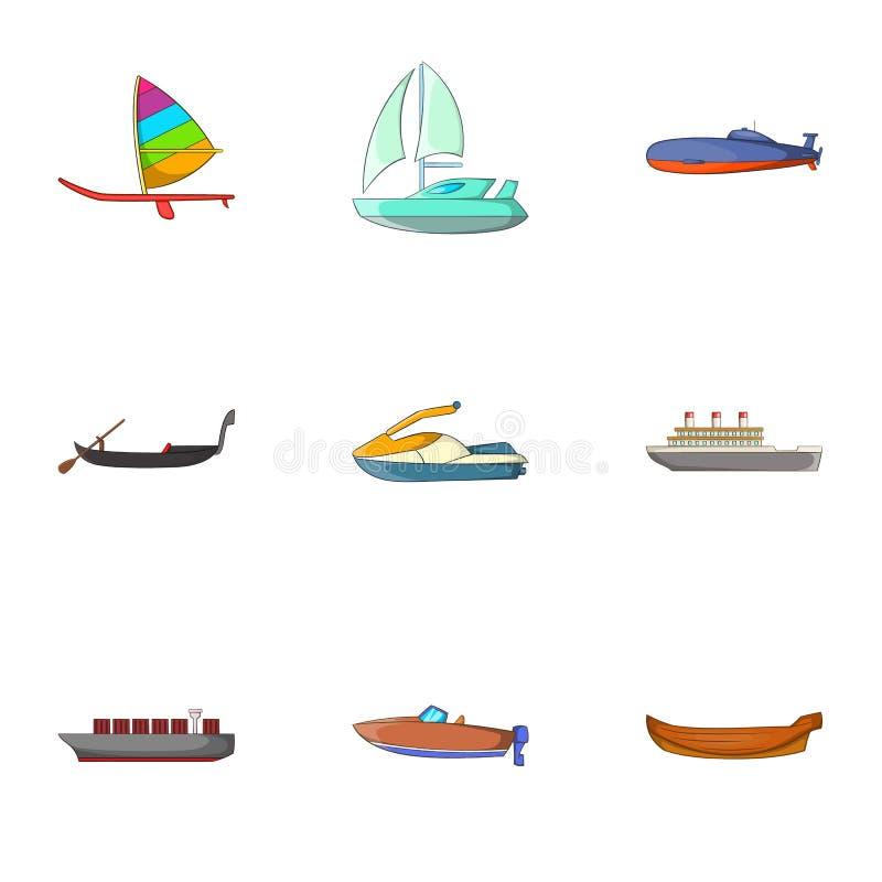 Download Ícones Ajustados, Estilo Do Transporte Da água Dos Desenhos Animados Ilustração do Vetor - Ilustração de feriado, material: 80102391