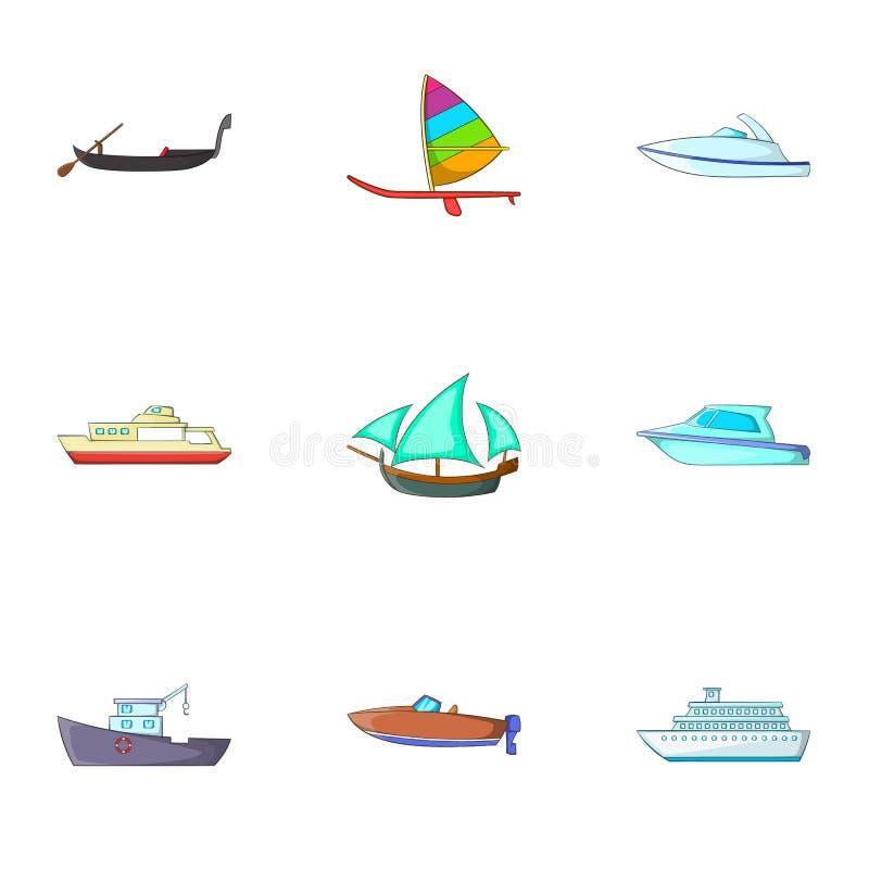 Download Ícones Ajustados, Estilo Do Transporte Marítimo Dos Desenhos Animados Ilustração do Vetor - Ilustração de cartoon, ícone: 80101707