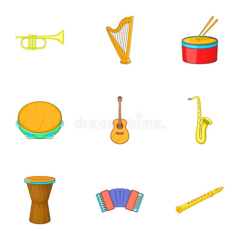 Download Ícones Ajustados, Estilo Dos Instrumentos Musicais Dos Desenhos Animados Ilustração do Vetor - Ilustração de gráfico, colorido: 80100575