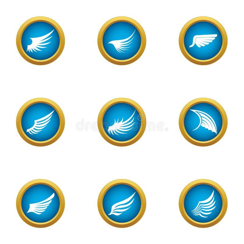 Ícones ajustados, estilo liso do flanco ilustração do vetor