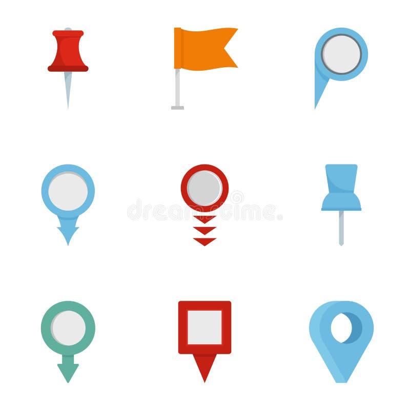 Ícones ajustados, estilo liso do sinal da informação ilustração do vetor
