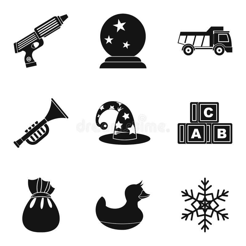 Ícones ajustados, estilo simples de Hickey ilustração stock