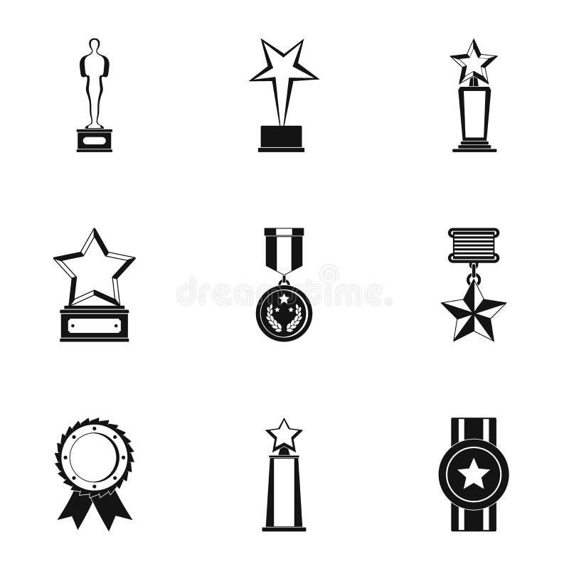 Ícones ajustados, estilo simples do lote ilustração royalty free