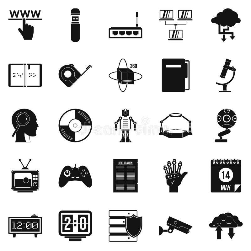 Ícones ajustados, estilo simples dos fatos ilustração royalty free