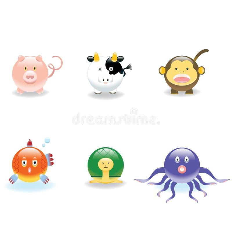 Ícones animais 2 ilustração stock