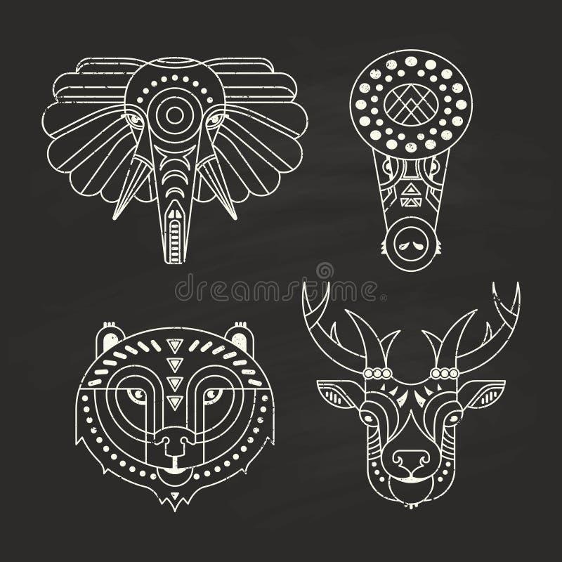 Ícones animais ilustração do vetor