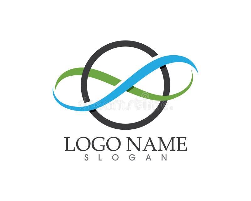 Ícones app do molde do logotipo e do símbolo da infinidade ilustração royalty free