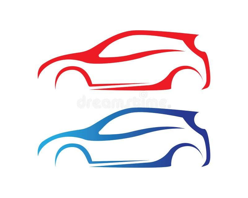 Ícones app do molde do vetor do logotipo da silhueta do carro ilustração royalty free