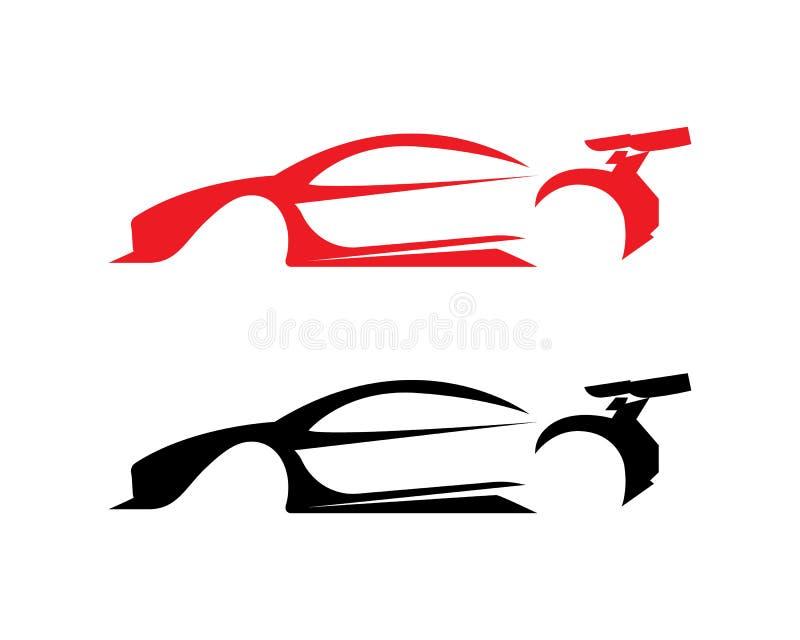 Ícones app do molde do vetor do logotipo da silhueta do carro ilustração do vetor