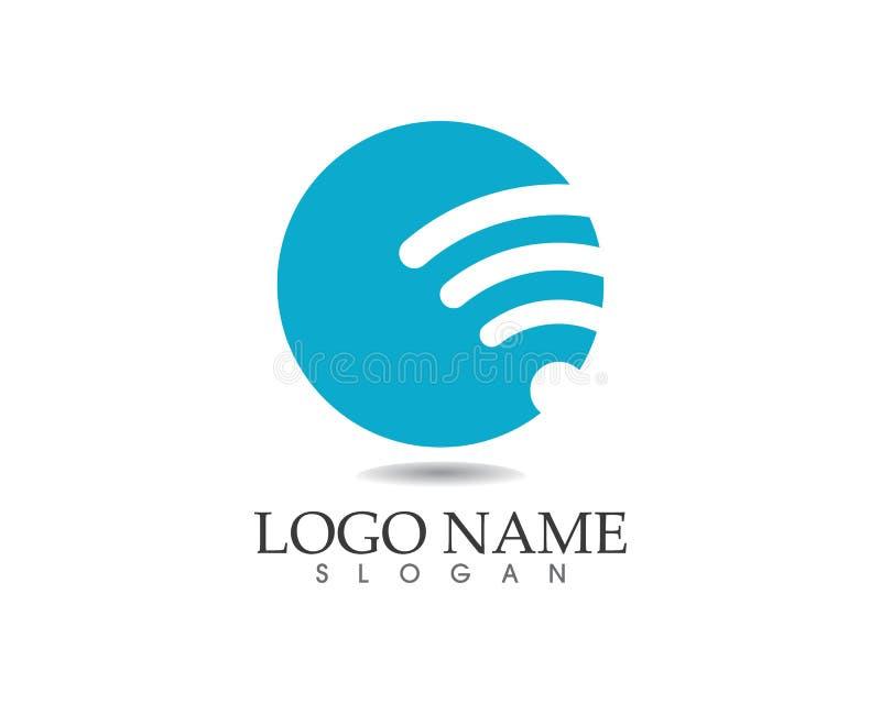 Ícones app do molde do vetor do logotipo de Wi-Fi ilustração do vetor