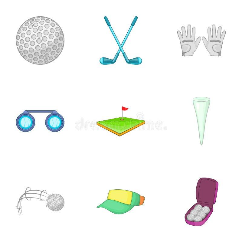 Download Ícones Ativos Ajustados, Estilo Do Golfe Dos Desenhos Animados Ilustração do Vetor - Ilustração de golf, retrocesso: 80101446