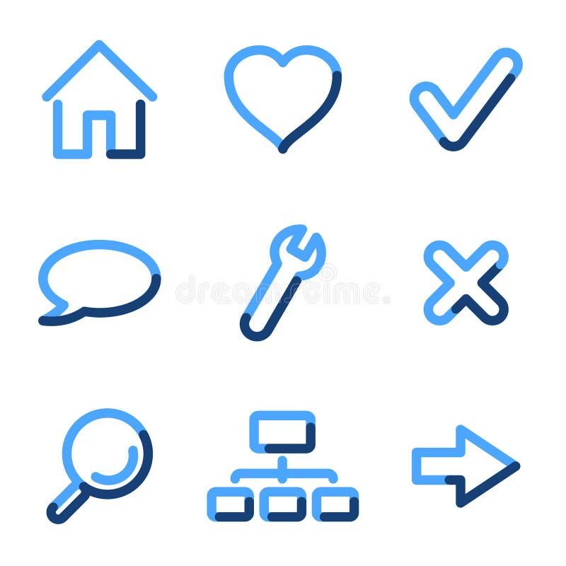 Ícones básicos do Web ilustração do vetor