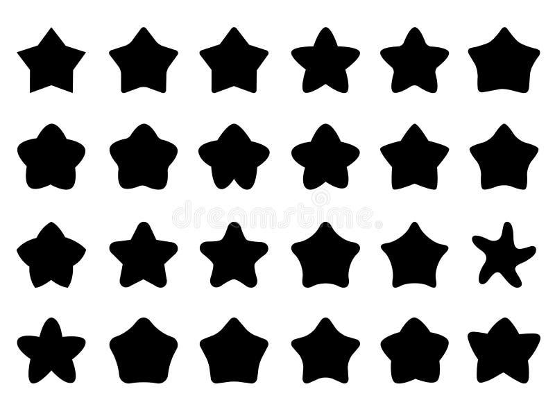 Ícones bonitos da estrela imagens de stock royalty free