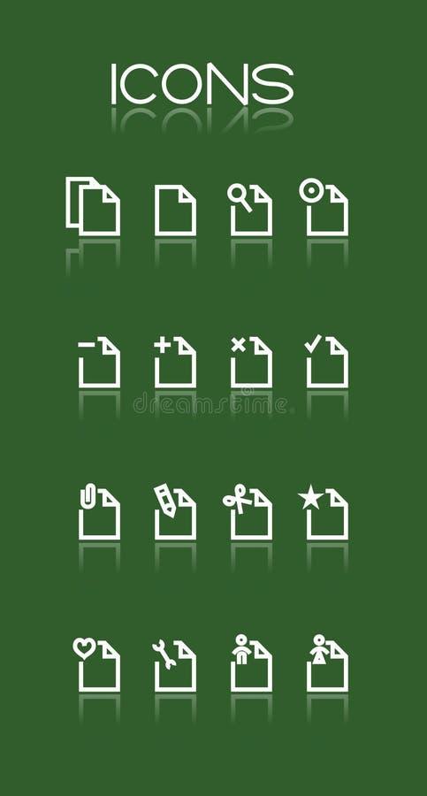 Ícones brancos simples ilustração do vetor