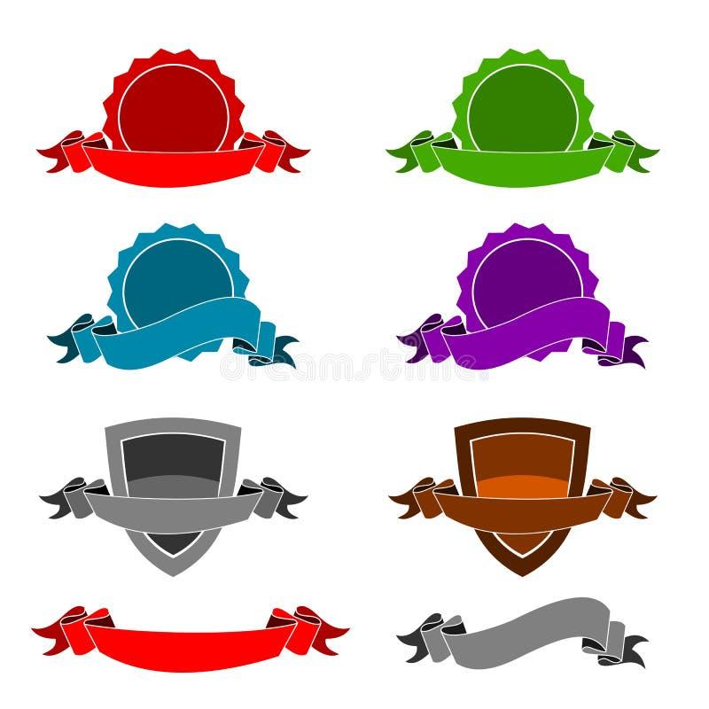 Ícones - certificados & fitas ilustração stock