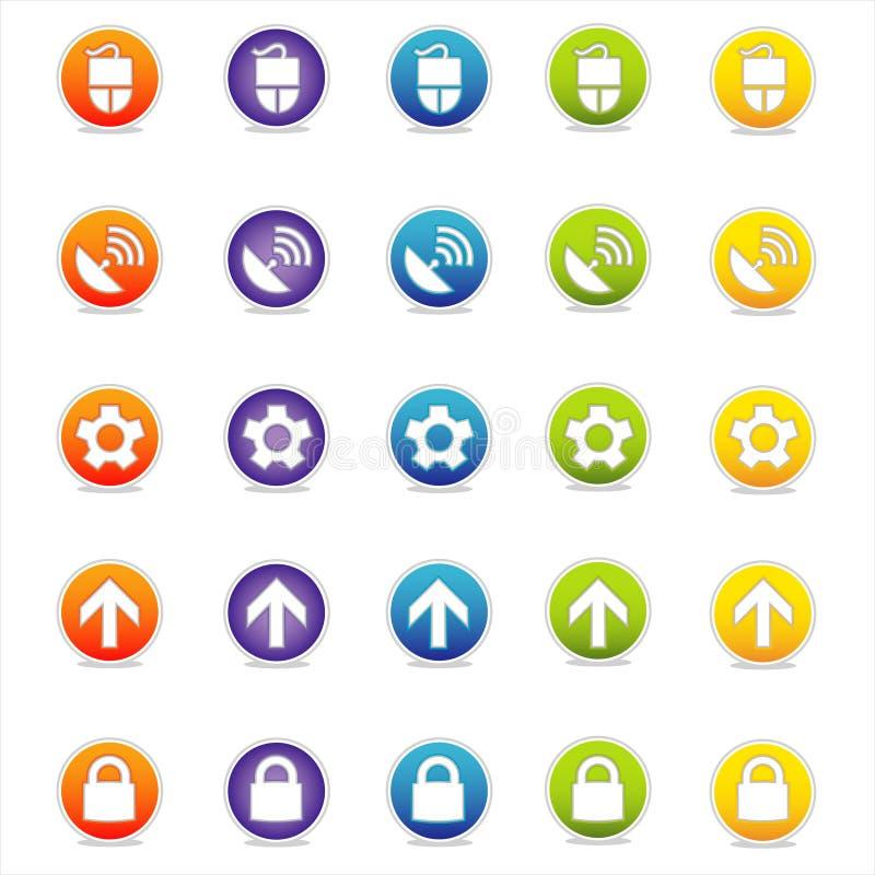 Ícones coloridos 2 do Web (vetor) ilustração royalty free